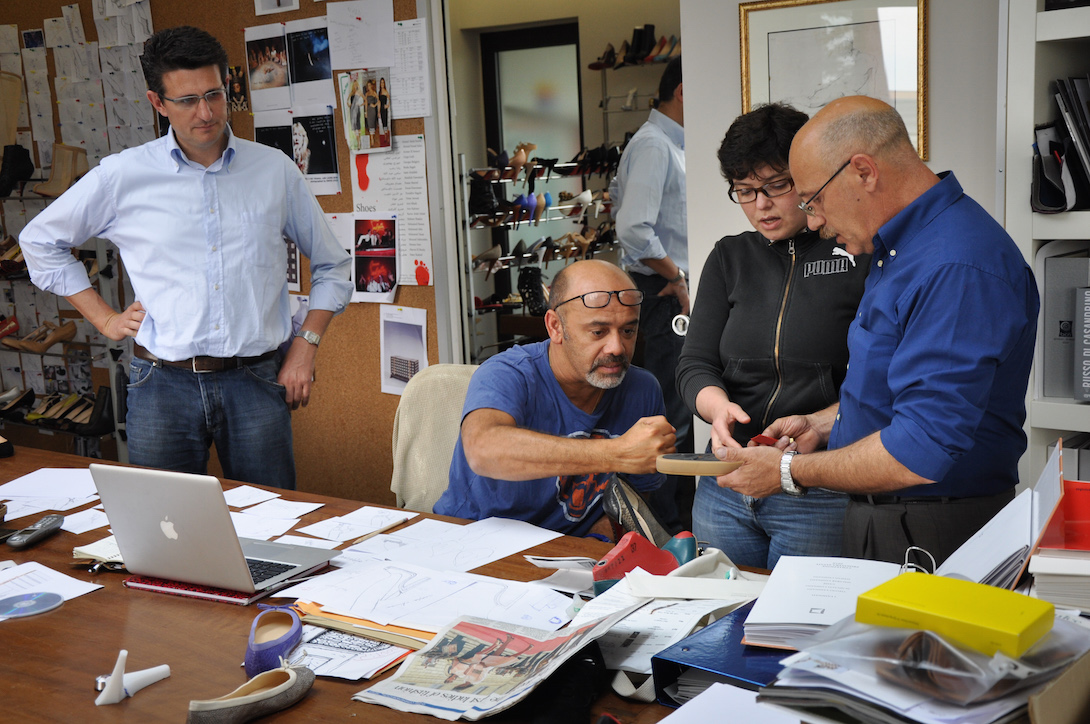 Christian Louboutin in his studio © artflyer