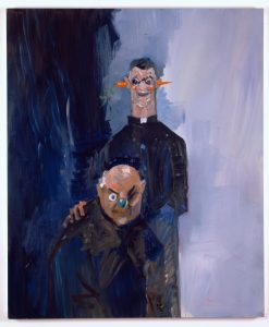 Portrait of Dakis Joannou and Maurizio Cattelan I, by George Condo, 2006 © artflyer