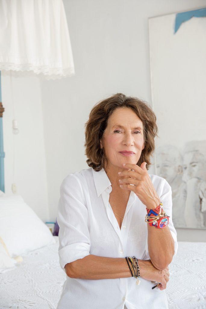 Portrait of Marina Karella at home in Patmos.