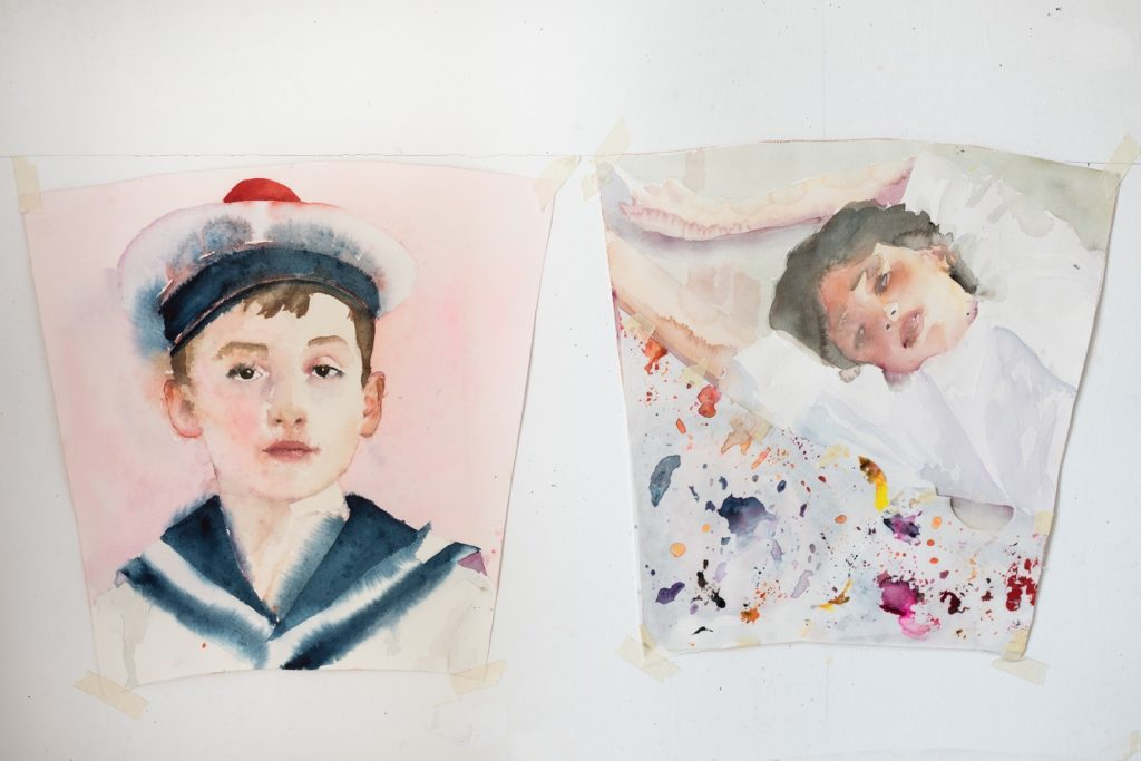 Watercolor paintings by Marina Karella.