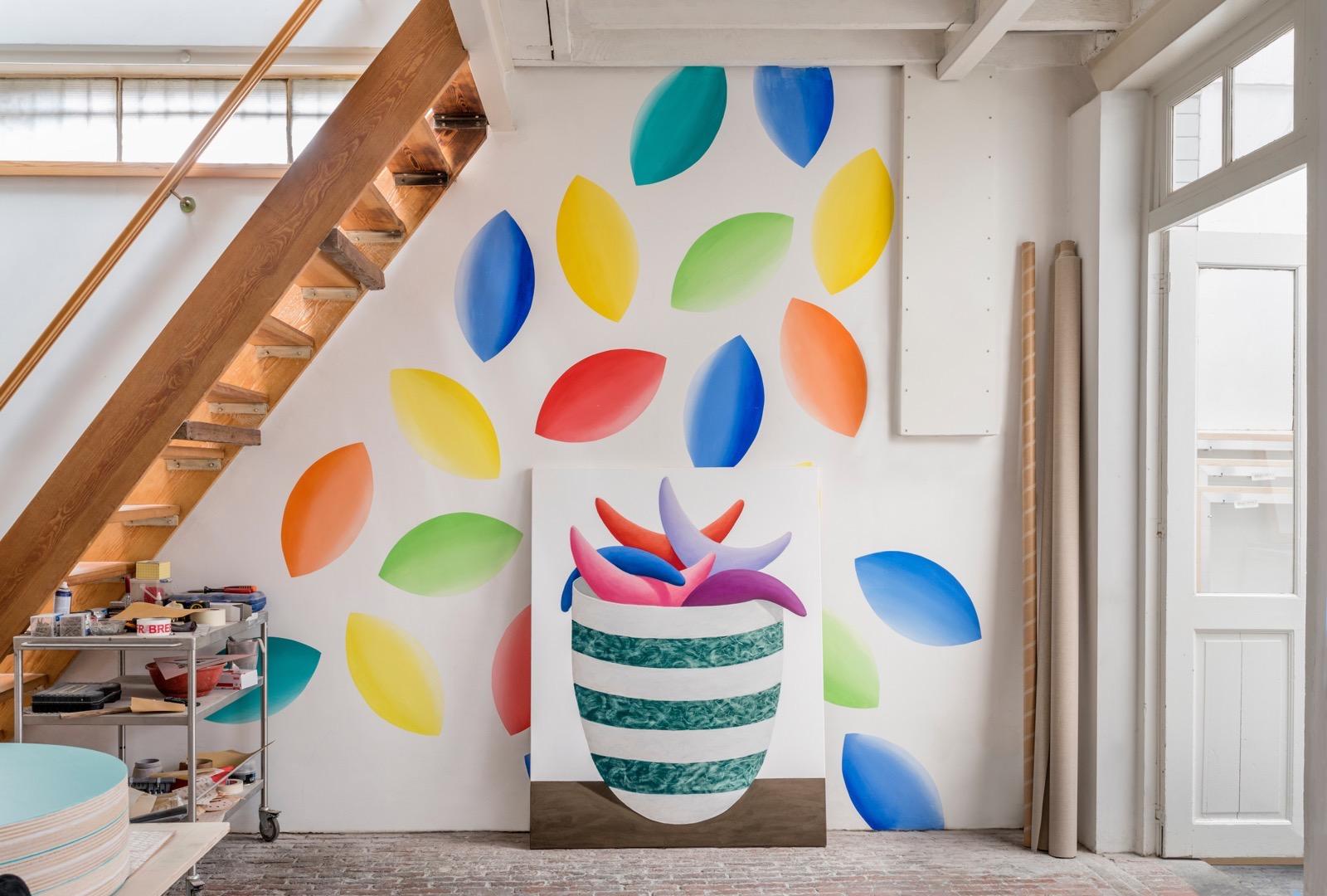 Nicolas Party mural studio