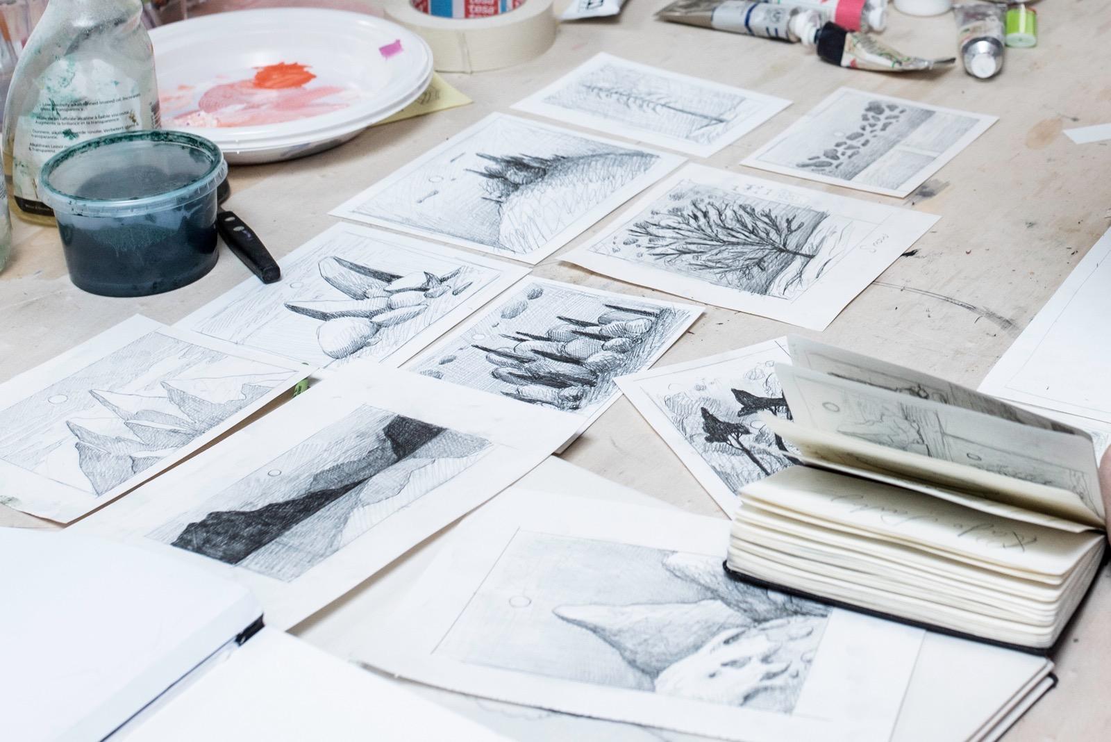 Sketches by Nicolas Party